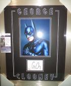 George Clooney Batman Movie Signed Autographed Jsa Coa Double Matted & Framed