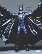 George Clooney Batman & Robin Autographed Signed 11x14 Photo Authentic PSA/DNA