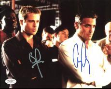 George Clooney & Brad Pitt Ocean's 11 Signed 8X10 Photo JSA #E51798