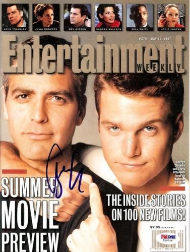George Clooney Certified Authentic Autographed Signed Magazine PSA/DNA #T19729