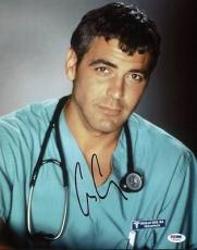 George Clooney E.r. Signed 11x14 Photo Autographed Psa/dna #t77879
