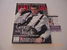 George Clooney Er,oceans 11 Actor W/coa Signed Vanity Fair Magazine