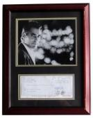 George Clooney Framed 8x10 Photo w/ Signed Bank Check SI Authenticity