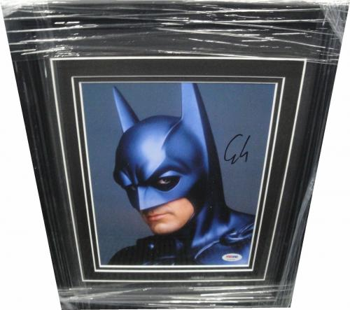 George Clooney Hand  Signed Autographed 8x10 Photo Framed Sexy Stare Batman PSA