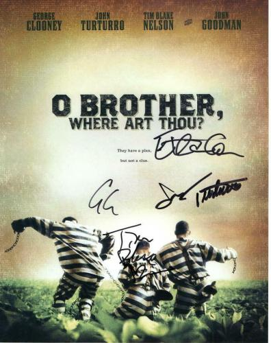 GEORGE CLOONEY, JOHN TURTURRO, ETHAN COEN + CAST SIGNED AUTOGRAPHED 11x14 PHOTO