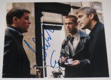 George Clooney Matt Damon Brad Pitt Signed 8x10 Photo Autograph Oceans Coa A