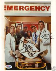 George Clooney & Noah Wyle +2 Signed ER 8x10 Photo PSA