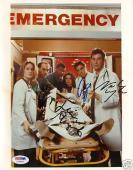 George Clooney & Noah Wyle +2 Signed ER 8x10 Photo PSA