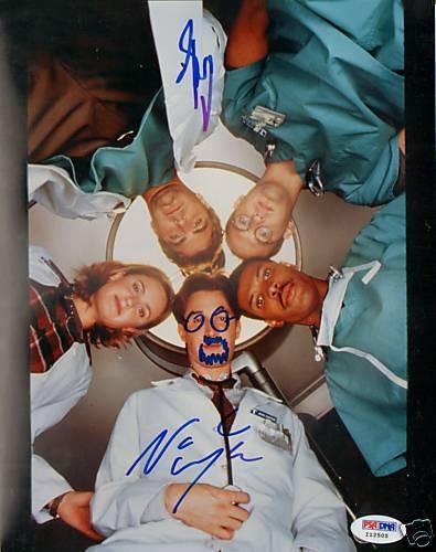 George Clooney & Noah Wyle Signed ER 8x10 Photo PSA/DNA