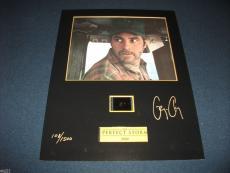 George Clooney RARE Signed Full Signature Display Photo