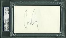 George Clooney Signed 3X5 Index Card Autographed PSA/DNA Slabbed