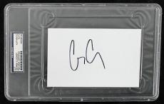 George Clooney Signed 4x6 Cut Autographed Psa/dna Slabbed