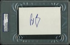 George Clooney Signed 4X6 Index Card Autographed PSA/DNA Slabbed