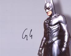 George Clooney Signed 8x10 Batman Photo UACC RD COA AFTAL