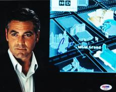 George Clooney Signed 8x10 Photo Autograph Er Batman Syriana Psa/dna Coa B