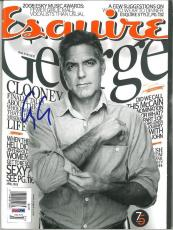 George Clooney Signed Authentic Autographed Esquire Magazine (PSA/DNA) #V31715
