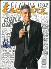 George Clooney Signed Authentic Autographed Esquire Magazine (PSA/DNA) #V31716