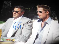 GEORGE CLOONEY SIGNED AUTOGRAPH 8x10 PHOTO OCEANS ELEVEN PROMO BRAD PITT COA