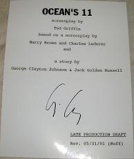 "George Clooney Signed Autograph ""ocean's Eleven"" Full 166 Page Movie Script Coa"