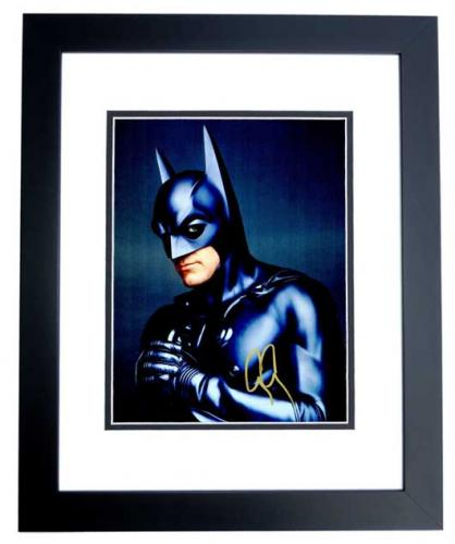 George Clooney Signed - Autographed Batman & Robin 11x14 inch Photo BLACK CUSTOM FRAME - Guaranteed to pass PSA or JSA