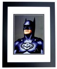 George Clooney Signed - Autographed Batman & Robin 11x14 Photo BLACK CUSTOM FRAME