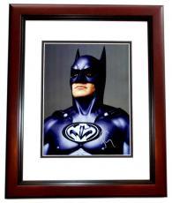 George Clooney Signed - Autographed Batman & Robin 11x14 Photo MAHOGANY CUSTOM FRAME
