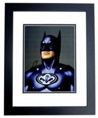 George Clooney Signed - Autographed Batman & Robin 8x10 Photo BLACK CUSTOM FRAME