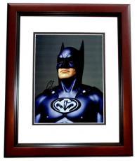 George Clooney Signed - Autographed Batman & Robin 8x10 Photo MAHOGANY CUSTOM FRAME