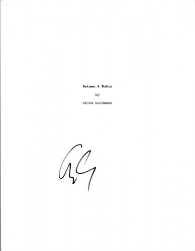 George Clooney Signed Autographed BATMAN & ROBIN Movie Script COA VD