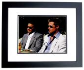 George Clooney Signed - Autographed OCEANS 11 8x10 inch Photo BLACK CUSTOM FRAME - Guaranteed to pass PSA or JSA