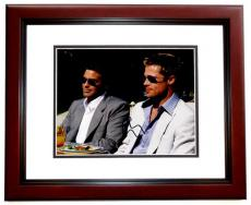 George Clooney Signed - Autographed OCEANS 11 8x10 Photo MAHOGANY CUSTOM FRAME