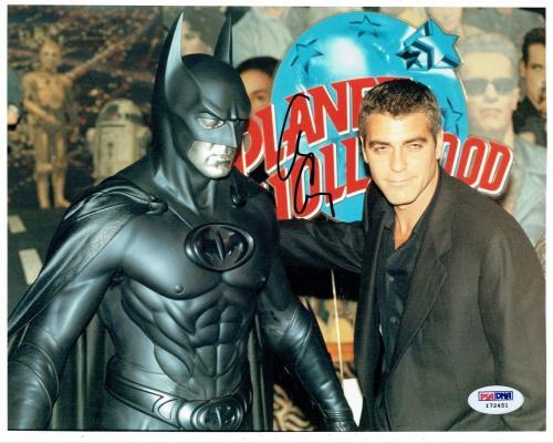 George Clooney Signed Batman Authentic Autographed 8x10 Photo PSA/DNA #I72451