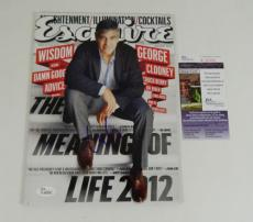 George Clooney Signed Esquire Magazine January 2012 JSA Auto