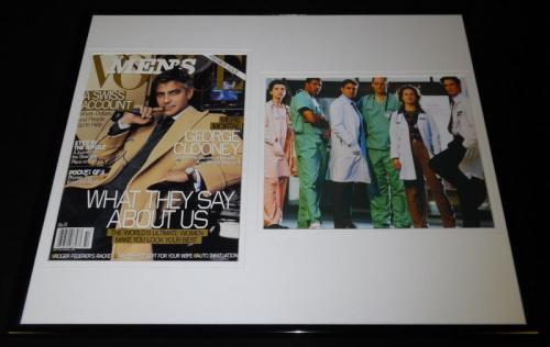 George Clooney Signed Framed 16x20 Magazine Cover & Photo Display ER