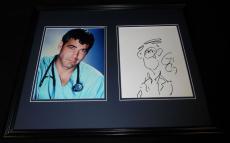 George Clooney Signed Framed 16x20 Sketch & Photo Set JSA ER