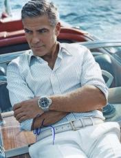 George Clooney Signed Handsome Boat Ride 11x14 Photo PSA #Y67715 UACC RD AFTAL
