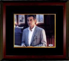 George Clooney signed Horizontal Grey Suit 8x10 Photo Custom Framed- PSA Hologram (movie/entertainment)
