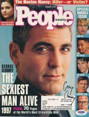 George Clooney Signed Magazine Cover Autograph Auto PSA/DNA X77809