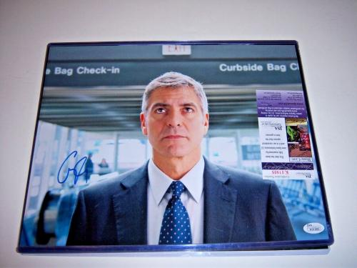 George Clooney Up In The Air,batman Jsa/coa Signed 11x14 Photo