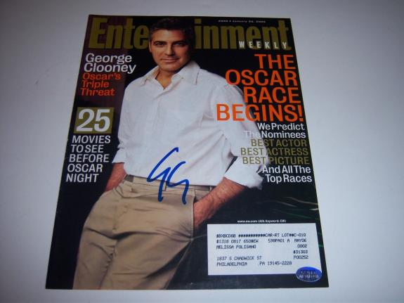 George Clooney,actor W/coa Signed Entertainment Weekly Magazine Cover