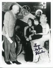 George Foghorn Winslow Child Actor With Marilyn Monroe Signed Photo Autograph