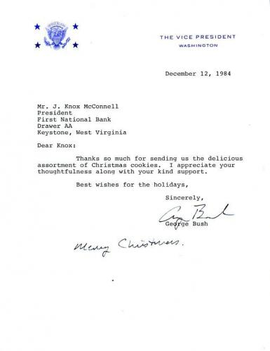 George H W Bush Jsa Authenticated Signed 1984 Letter Autograph