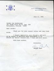 George H W Bush Jsa Certified Signed 1981 Letter Autograph Authentic