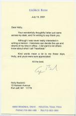George H W Bush Signed Autographed Typed Letter 7/13/01  L@@k!!!!