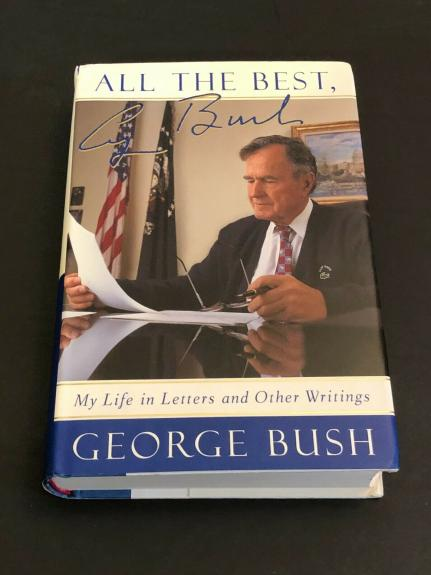 George H. W. Bush US President All The Best Rare Signed Autograph Book