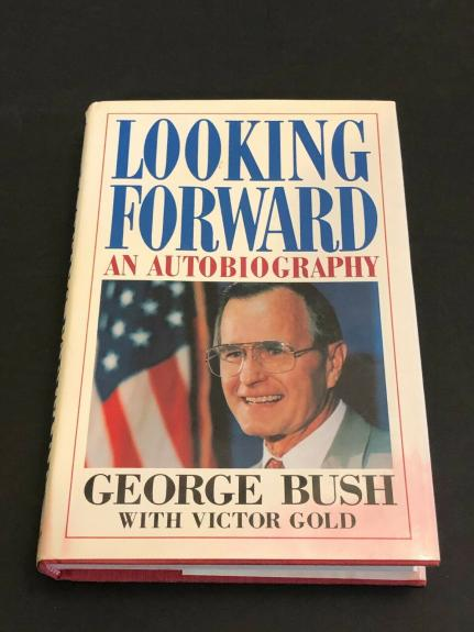 George H. W. Bush US President Looking Forward Rare Signed Autograph Book