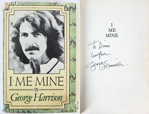 """George Harrison """"Love From"""" Signed I Me Mine 1st Ed Hard Cover Book BAS #A72820"""
