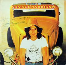 """George Harrison """"Love From"""" Signed The Best Of Album Cover W/ Vinyl BAS #A02043"""