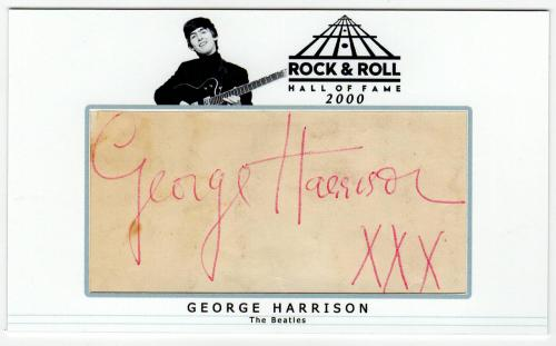 George Harrison signed autographed custom card! RARE! JSA LOA!