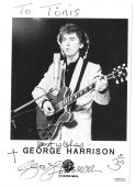 George Harrison signed autographed photo! The Beatles! Symbols! Beckett BAS LOA!